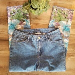 Soft Surroundings 4p embellished crop jean